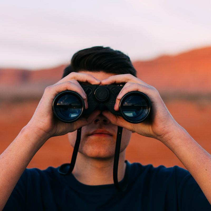 Binoculars looking at future of SEO