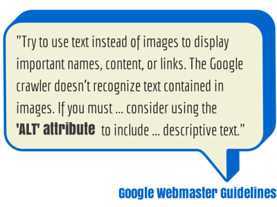 Use text or use image with ALT attribute