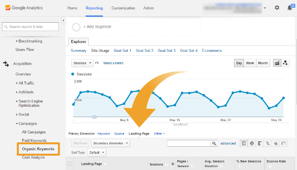 Google Analytics Organic Traffic