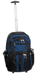 Rolling or wheeled backpack